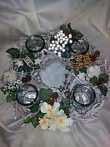 Svietidlá a sviečky - Vianočný svietnik - 7434151_