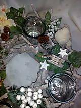 Svietidlá a sviečky - Vianočný svietnik - 7434153_