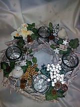 Svietidlá a sviečky - Vianočný svietnik - 7434154_