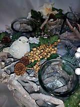 Svietidlá a sviečky - Vianočný svietnik - 7434155_