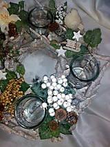 Svietidlá a sviečky - Vianočný svietnik - 7434156_