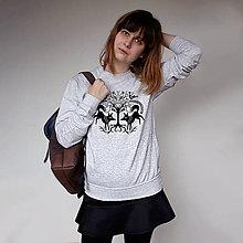 Mikiny - Mikina Foxes (svetlo-šedý melír) - 7431117_