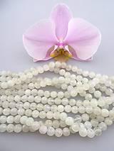 mesačný kameň 7,5mm korálky - dúhový mesačný kameň