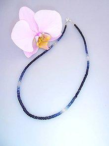 Náhrdelníky - zafír náhrdelník - 7430438_