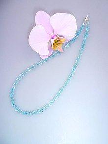 Náhrdelníky - krištál náhrdelník - blankytné nebo - 7430818_