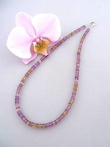 Náhrdelníky - ametrín náhrdelník - z hlbín zeme - 7431656_