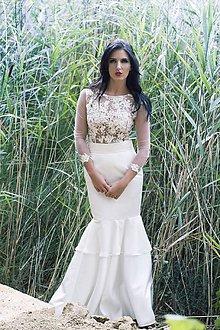 Šaty - Svadobné šaty ivory - 7429347_
