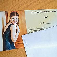 Darčekové poukážky - Darčeková poukážka v hodnote 10 € - 7431240_