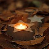 Svietidlá a sviečky - Svietnik na čajovú sviečku v tvare hviezdy - 7431865_