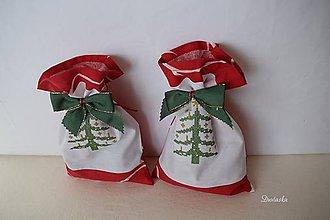 Úžitkový textil - Vrecúško s vianočnou výšivkou - 7430639_
