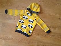 Detské oblečenie - Pandy na zltej - 7434246_
