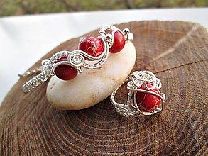 Sady šperkov - jaspis a koral - 7432442_