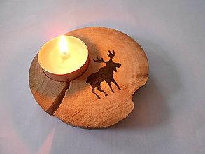Svietidlá a sviečky - drevená podložka pod čajovú sviečku/sob - 7429432_