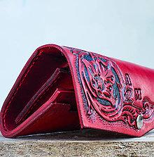 Peňaženky - Dámska peňaženka ušitá na mieru s individualizáciou - 7429790_