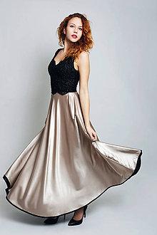 Šaty - Večerné šaty Zlatá hviezda - 7441128_