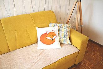 Úžitkový textil - Kamoš Lišiak (komplet vankúš alebo iba samotná obliečka) - 7440162_
