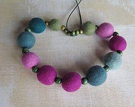 Náhrdelníky - Cyklámenky - náhrdelník - 7440256_