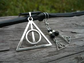 Náhrdelníky - Náhrdelník Magický znak + náušnice jako dárek - 7440073_