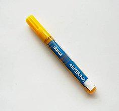 Farby-laky - Fixka na PORCELÁN bez vypaľovania, Darwi, rôzne farby (žltá) - 7439266_