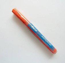 Farby-laky - Fixka na PORCELÁN bez vypaľovania, Darwi, rôzne farby (oranžová) - 7439304_