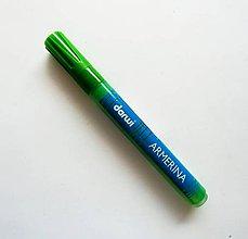 Farby-laky - Fixka na PORCELÁN bez vypaľovania, Darwi, rôzne farby (Zelená - svetlá) - 7439393_