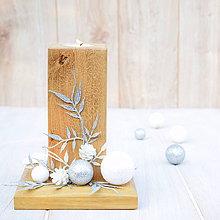 Svietidlá a sviečky - Vianočný svietnik - 7437834_