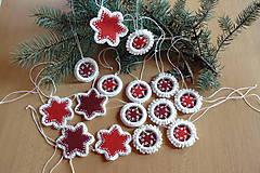 Dekorácie - Hviezdičková vianočná sada - 7436815_