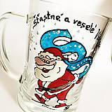Nádoby - Ručne maľovaný pivový pohár na želanie - Mikuláš - 7436936_