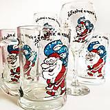 Nádoby - Ručne maľovaný pivový pohár na želanie - Mikuláš - 7436937_