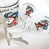 Nádoby - Ručne maľovaný pivový pohár na želanie - Mikuláš - 7436938_