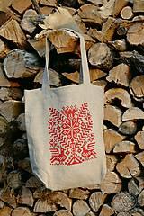 Nákupné tašky - Taška Strom života červený - 7438134_