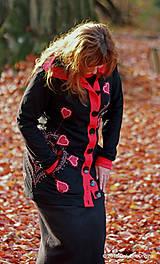 Mikiny - Dámska mikina s kapucou, vreckami, maľovaná, etno CORONA - 7436658_
