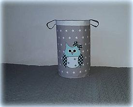 Detské doplnky - úložný box na hračky sova, 30X30 - 7438141_