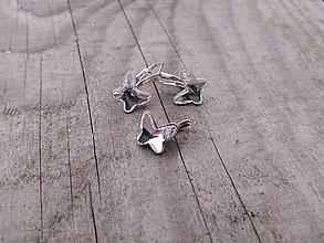 Sady šperkov - Swarovski motýlik -detské a dievčenské - 7441120_