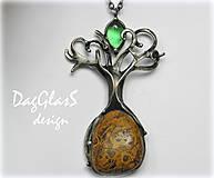 - šperk z minerálu a cínu ...Strom... - 7438130_