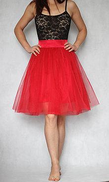Sukne - Tylová sukňa so saténovým pásom rôzne farby - 7437563  eb04a045448