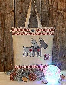 Nákupné tašky - Nákupná taška - vianočné soby - 7438685_