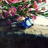 Prstene - Prsteň Modrý zafír fazet - 7435888_