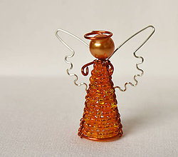 Dekorácie - Anjelik najmenší - vianočná ozdoba 9 (Šedá) - 7435584_