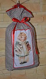 Úžitkový textil -  Mikulášske vrecko s dievčatkom - 7435824_
