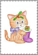 - Vianočné mačiatko - s čižmičkou - 7440702_