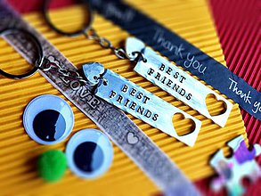 Kľúčenky - BEST FRIENDS / cena je za 1ks - 7444951_