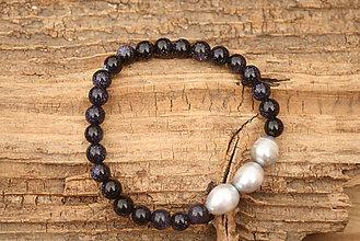 Náramky - Náramok pieskovec a perly - 7444218_