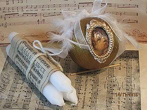 Dekorácie - Vianočná guľa s rámikom - 7445540_