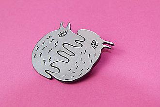 Odznaky/Brošne - strieborní milenci dvoj brošňa - 7442299_