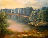 Obrazy - Pri jazere - 7445798_