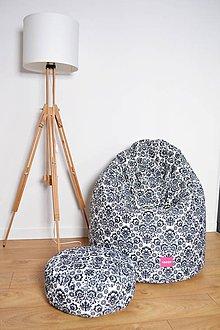 Nábytok - Dizajnový sedací vak TAKOY 3XL+podnožka zdarma poťah folk 33 - 7443173_