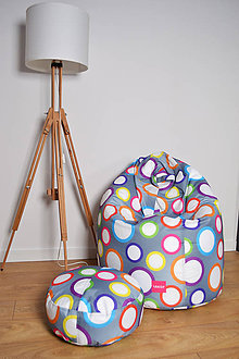 Nábytok - Dizajnový sedací vak TAKOY 3XL+podnožka zdarma poťah 332 - 7443230_