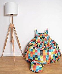 Nábytok - Dizajnový sedací vak BOBCAT XXL + podnožka zdarma poťah 239 - 7443395_