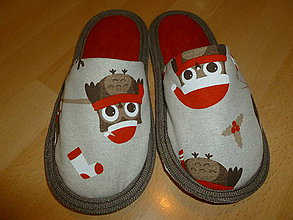 Obuv - Papuče vianočné sovičky - 7443369_